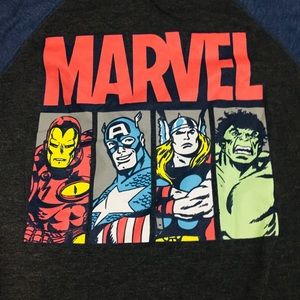 Vintage Marvel Baseball Fashion Sleeve Graphic Tee